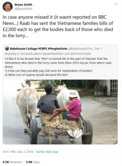 In case anyone missed it (it wasnt reported on BBC News…) Raab has sent the Vietnamese fam ...