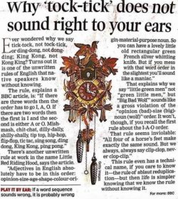 Why tock-tick does not sound right