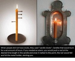 Candle alarm clocks