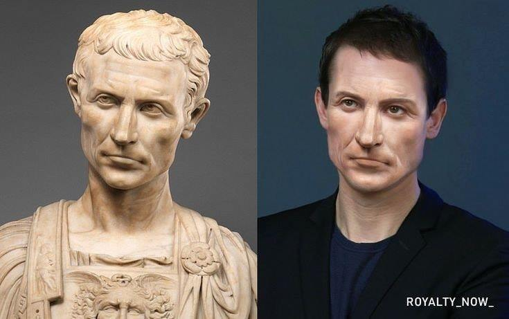 CG Image of Julius Caesar In Modern Times as a 45-Year-Old