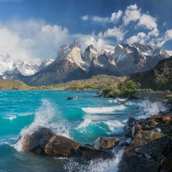 Lake Pehoe, Patagonia, Chile