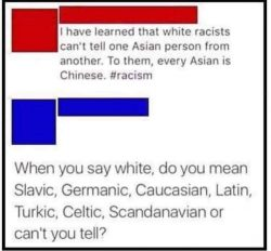 There was an attempt to be racist