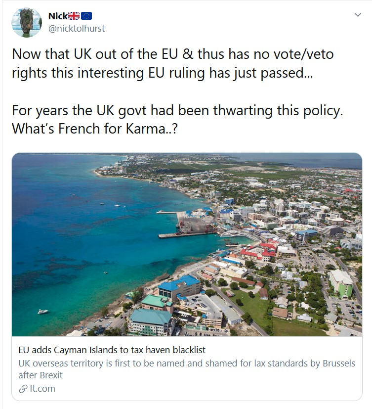 Now that UK out of the EU & thus has no vote/veto rights this interesting EU ruling has just ...