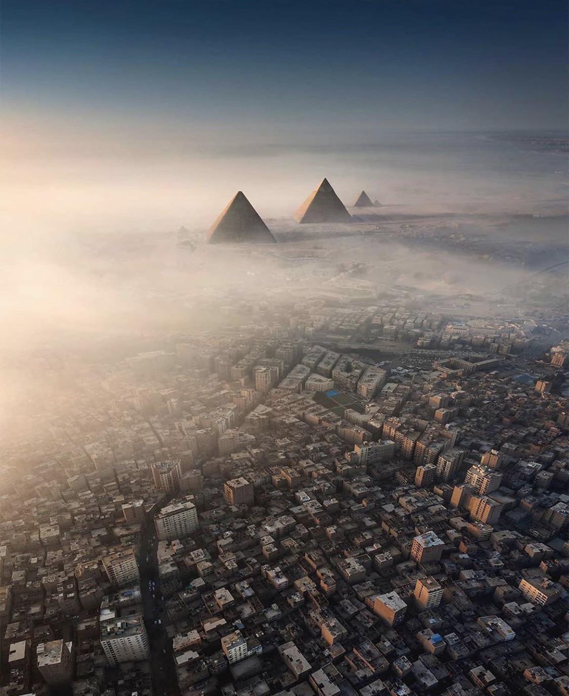 Pyramids by drone