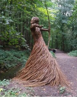 Wicker sculpture