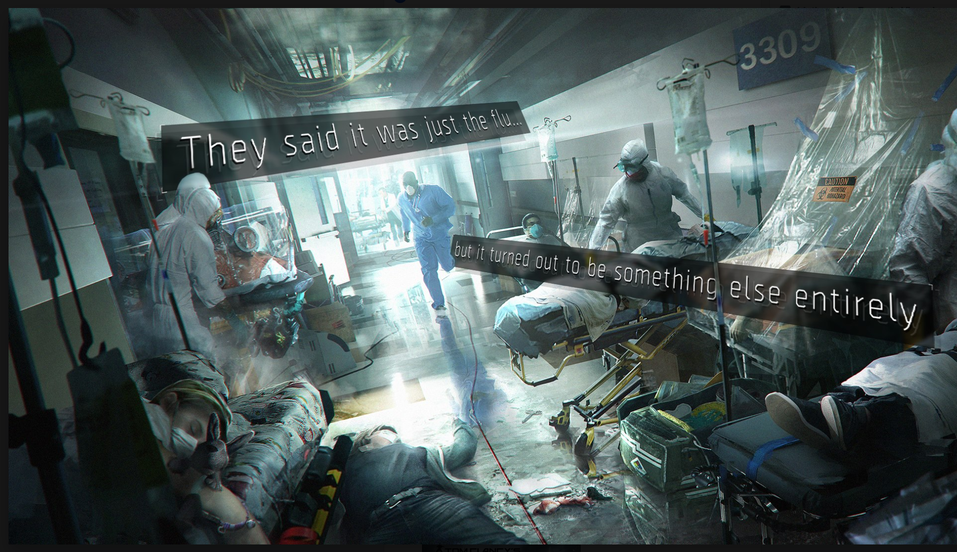 """Scarily prophetic artwork from the 4 year old computer game """"The Division"""""""