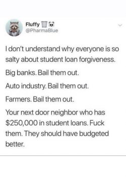 Bail them out, except the students