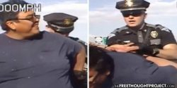 WATCH: Tyrant Cop Attacks Good Samaritan Who Helped Crash Victim for 'Smiling At Him'