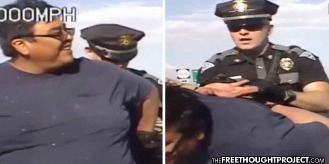WATCH: Tyrant Cop Attacks Good Samaritan Who Helped Crash Victim for 'Smiling At Him'