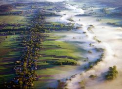 Morning fog over the river