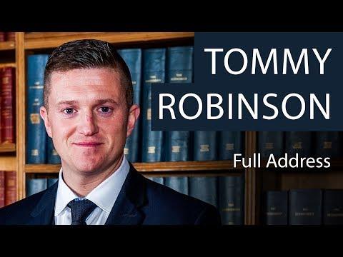 Tommy Robinson | Full Address | Oxford Union