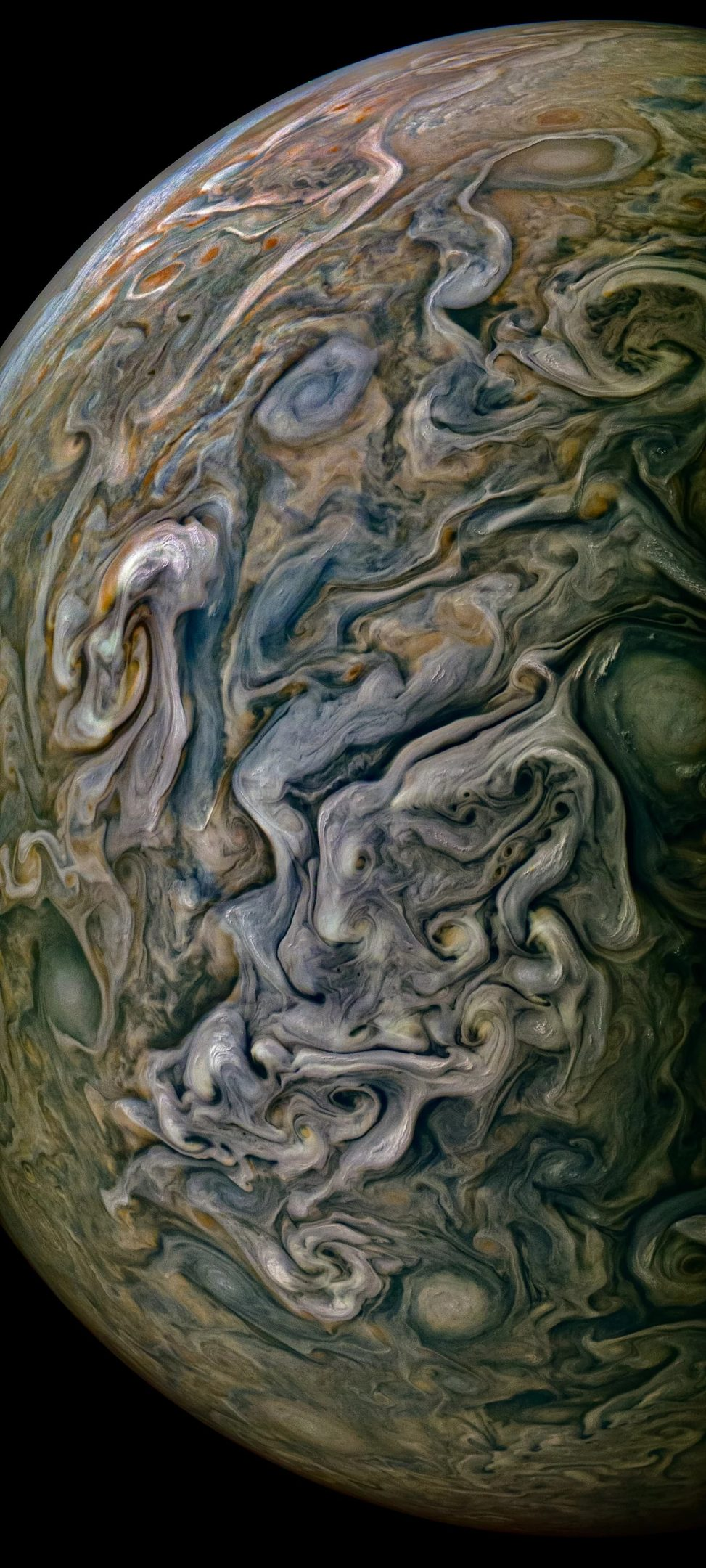 Jupiter photographed by NASA's Juno spacecraft last Friday