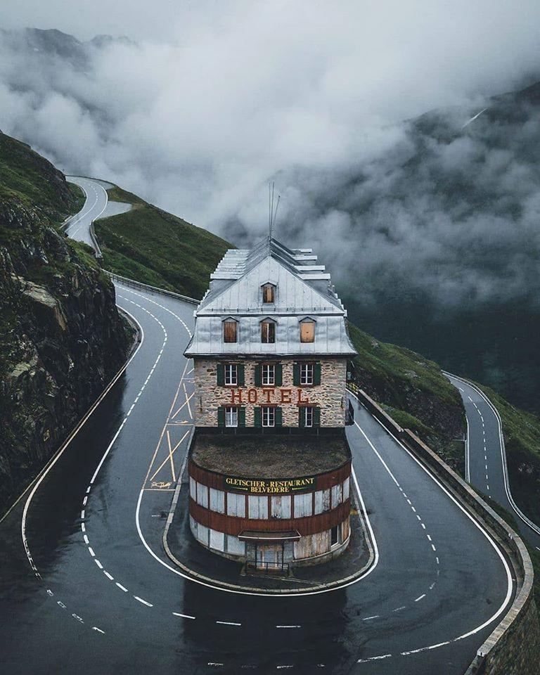 Abandoned Belvedere Hotel in Switzerland