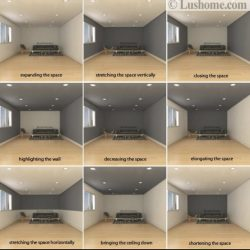 How to paint a room to give an appearance