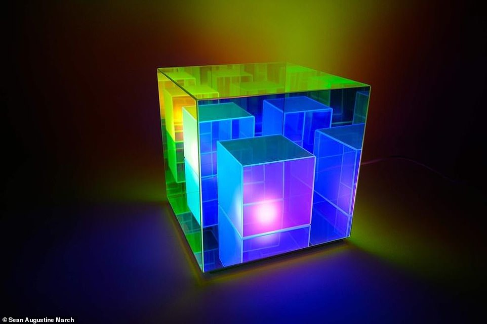 Mind-Bending Infinity Cube Lamp is All Just an Optical Illusion