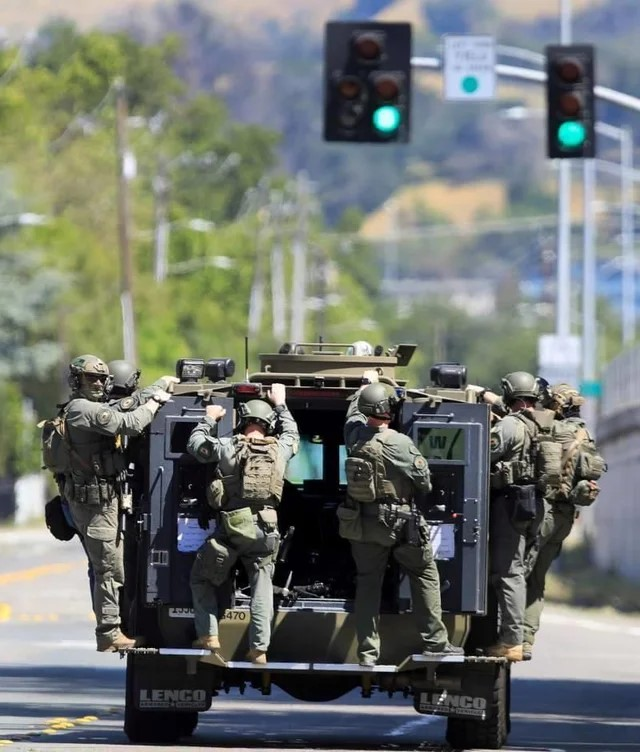 Believe it or not these are Police! Leaving the scene after a teenager arrest in Santa Rosa.What ...
