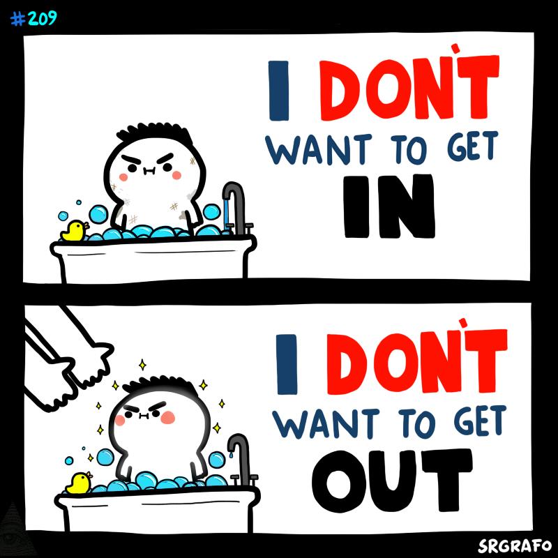 My feelings towards baths, showers, sleeping, relationships…
