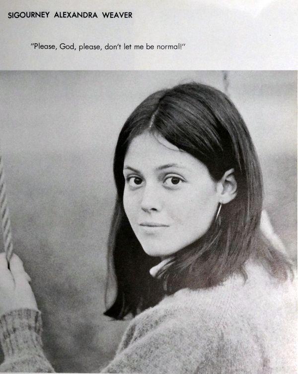 Sigourney Weaver, long before she killed her first alien, 1967
