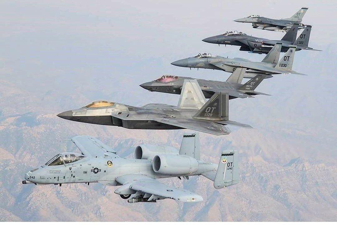 A10,F35,F22,F14,F15,F16
