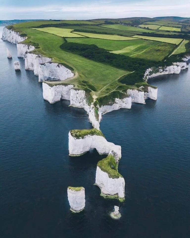 Chalk cliffs in the UK