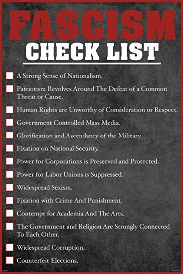 Fascism checklist, the UK has ticked many of those boxes