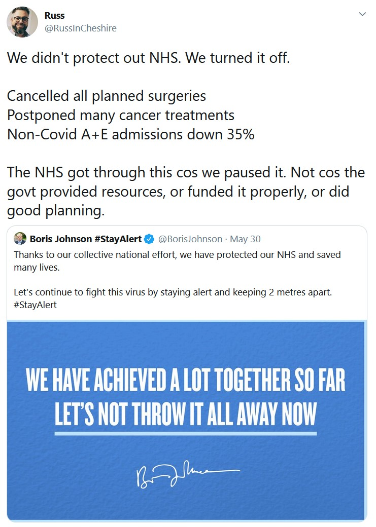 We didn't protect out NHS. We turned it off.