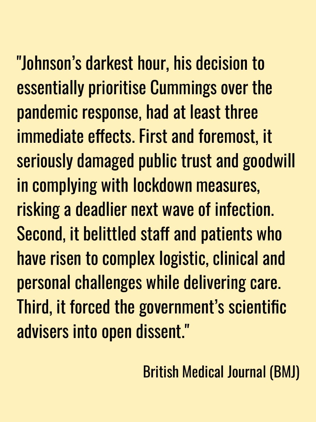 From. The. British. Medical. Journal!