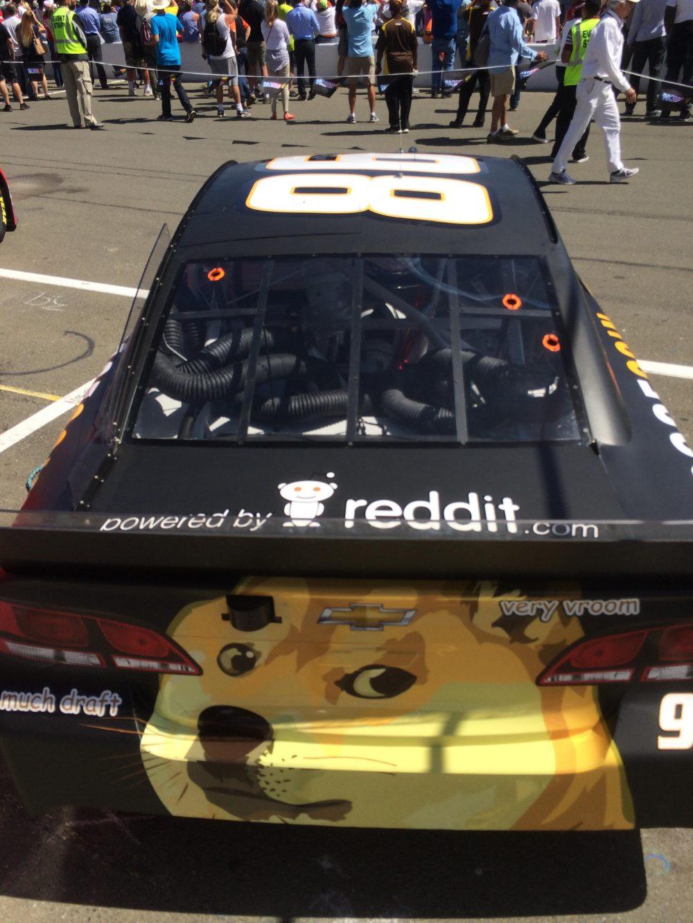 Six years ago reddit sponsored a car at Sonoma Raceway