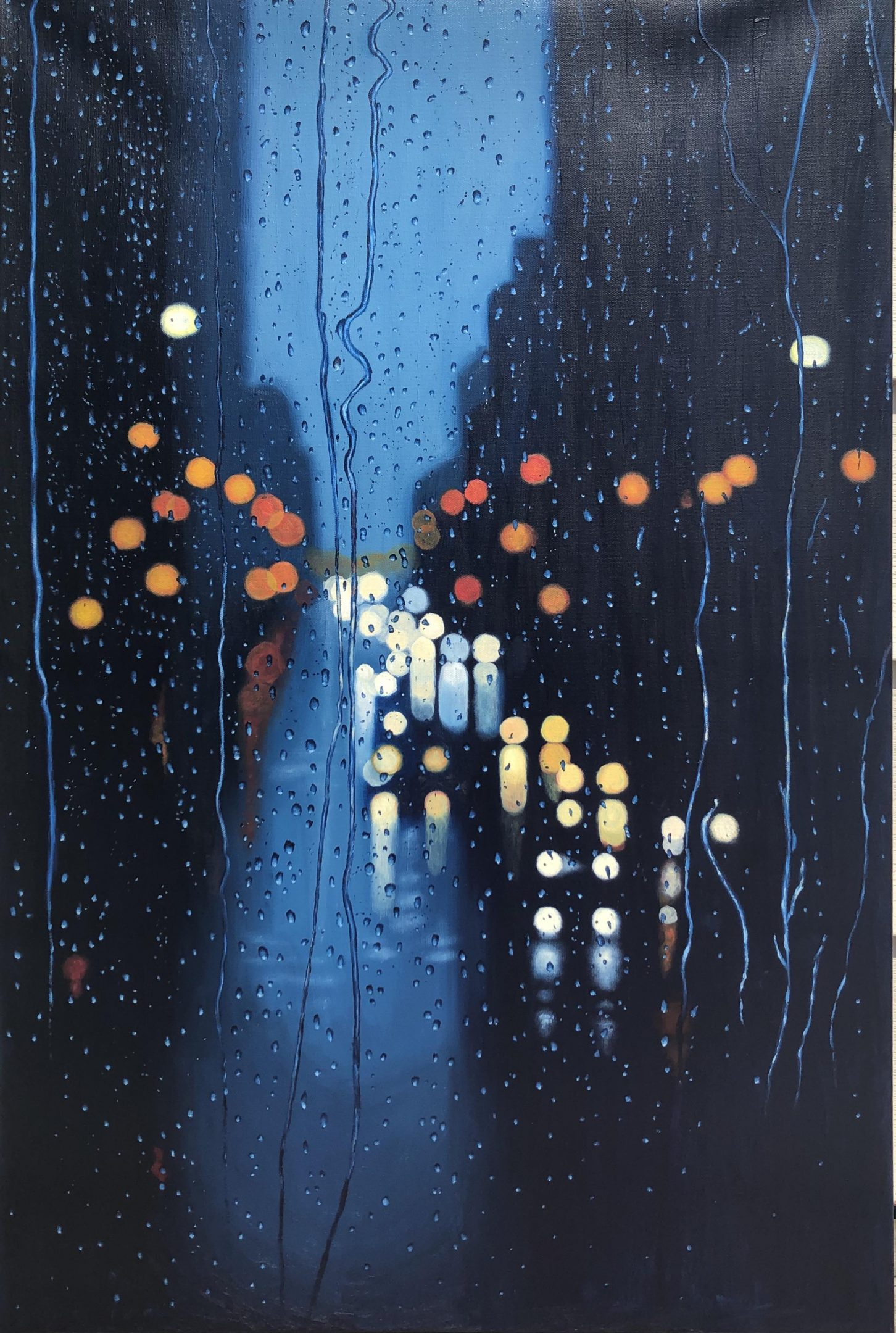 Rainy day: Oil paint