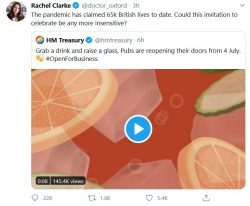 Treasury deletes this completely tone-deaf tweet after a few hours of hammering on social media, ...