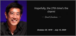 Grant Imahara, from MythBusters, dead at 49 from a brain aneurysm. Thanks for motivating and ins ...