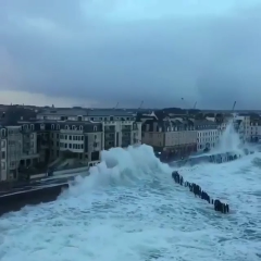 Saint Malo, Bretagne, France Heavy Seas