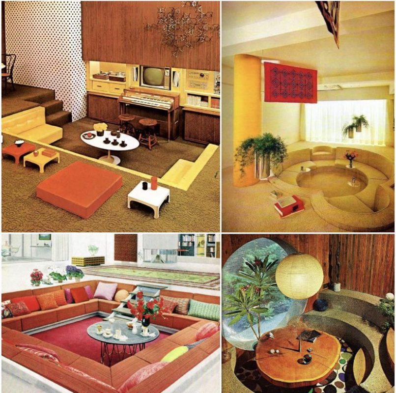 These 70s 'conversation pits' need to be brought back