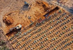 Mass grave for Brazilian coronavirus victims in Manaus.