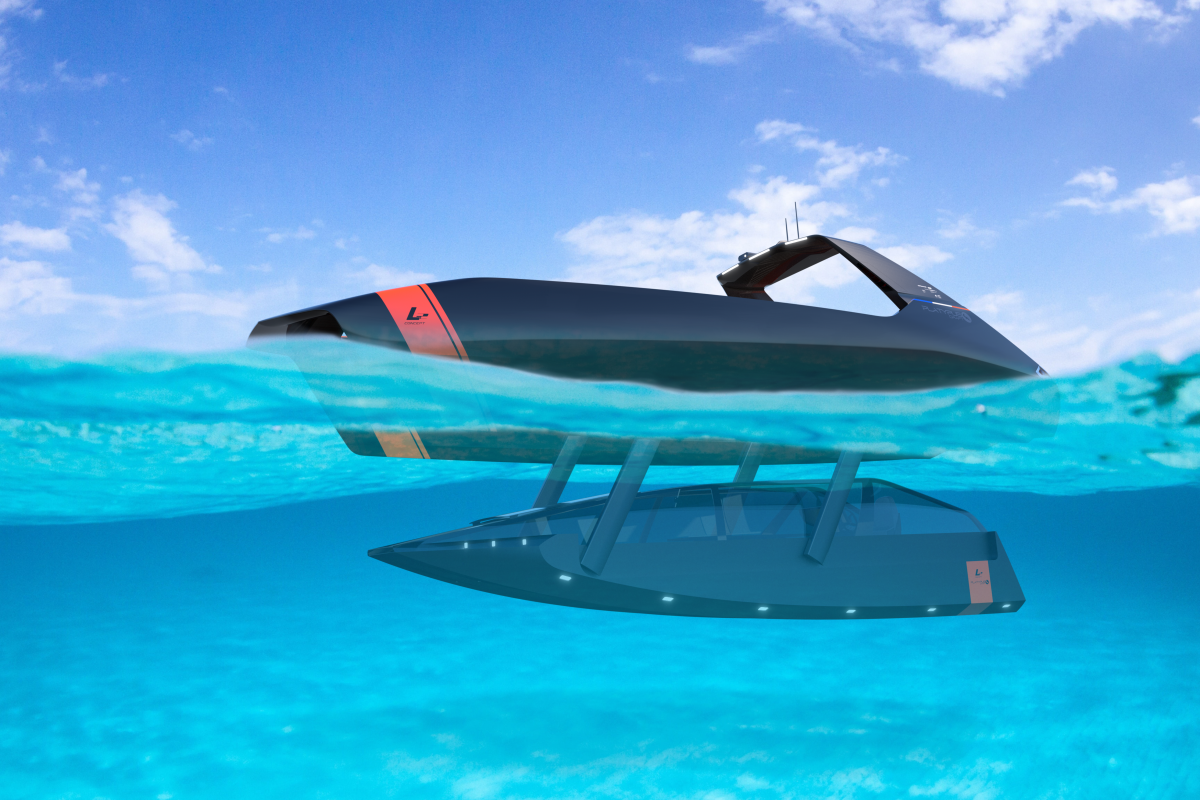 Swordfish tender will be able to travel above or below the waves