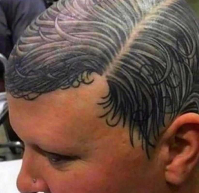 The dots for a crew cut are a good idea but this? …