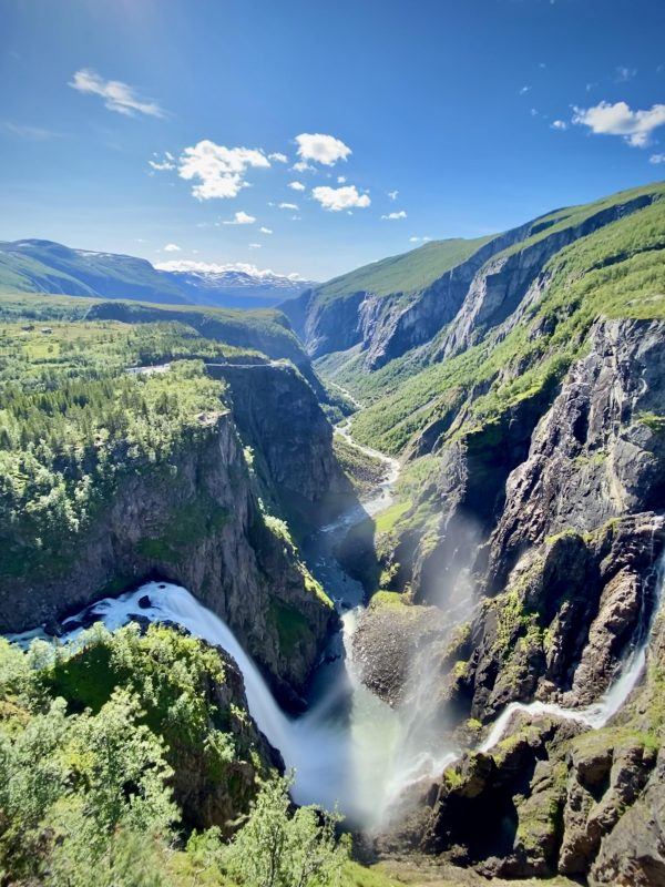The Vøring waterfall and the Måbø valley, western Norway