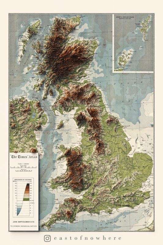 The Topography of the UK (1922)