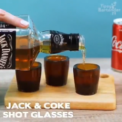Jack cups and coke