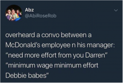 Minimum wage, minimum effort