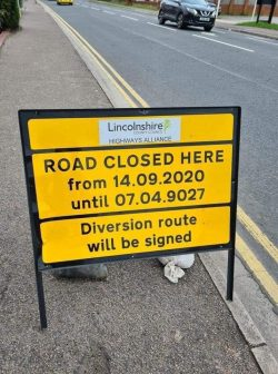 Council finally telling the truth on how long the roadworks will take.