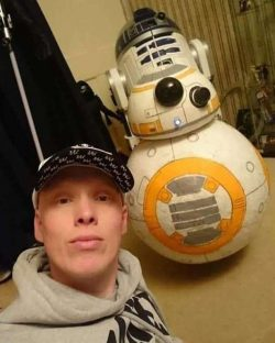 Scots Star Wars fanatic builds galaxy of lifesize spaceships and droids in back garden – D ...