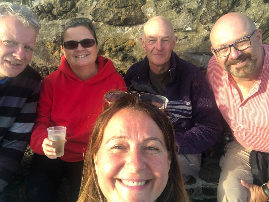 Lovely day with great friends in Coverack