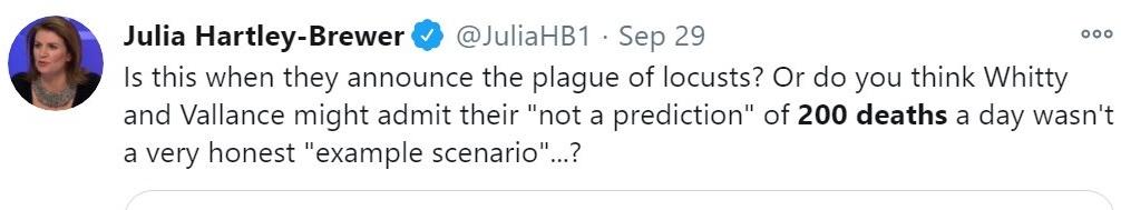 Julia Hateful-Bastard has just deleted this tweet, wonder why (367 deaths yesterday perhaps?)