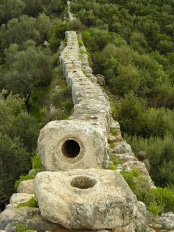 Ancient Rome Aqueduct, Patara, Turkey