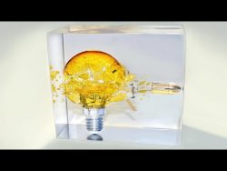 Bullet Through Electric Bulb- Slow Motion Epoxy Resin Art /Diorama – YouTube