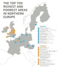 The richest and the 9 poorest areas in Northern Europe all in the UK, what more do you need to know?