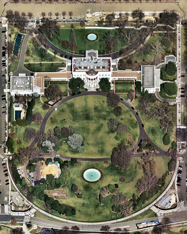 Arial view of the Whitehouse