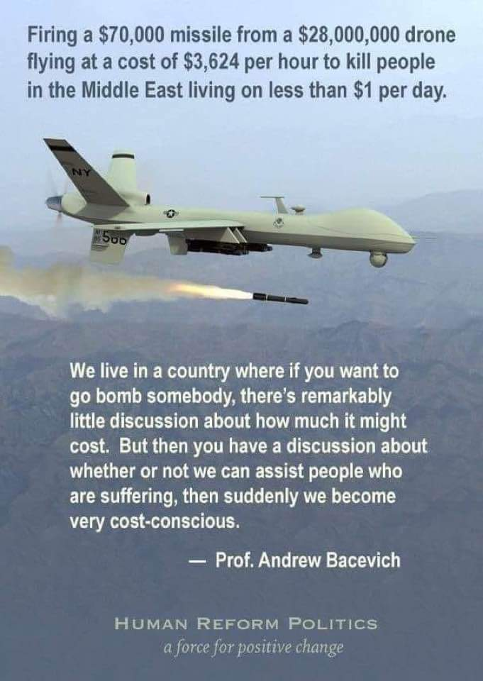 Makes for a healthy military industrial industry though huh?