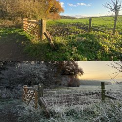3 days apart, gotta love UK winters